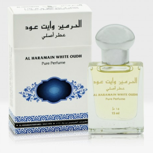 White Oudh Roll-on Perfume Oil 15ml by Al Haramain